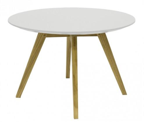 Zlevněné obývací pokoje Konferenční stolek Lola Bess - bílá, dub - II. jakost