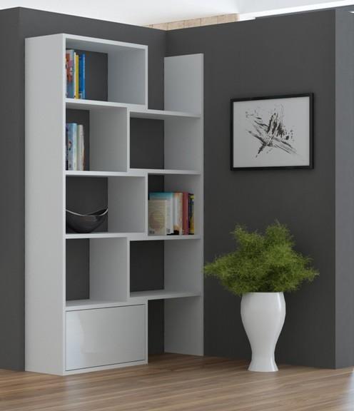 Zlevněné obývací pokoje Paco 1 - Regál (bílá)
