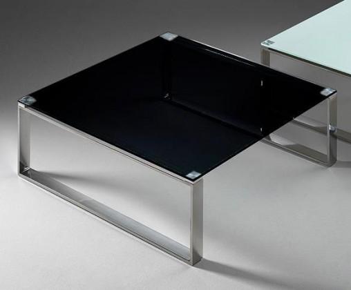 Zlevněné obývací pokoje Stain - Konferenční stolek (černá, 80x80 cm) - II. jakost