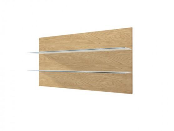Zlevněné obývací pokoje Závěsný panel Corano - typ 09 (bílá/dub) - II. jakost