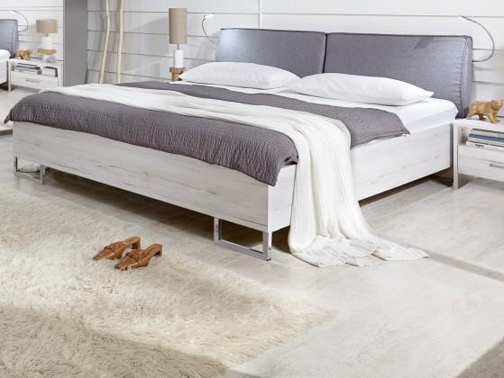 Zlevněné postele Kampen 848293(bílý dub, polštář světle šedá) - II. jakost