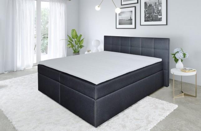 Zlevněné postele Postel Boxspring Bea 180x200, vč. matrace, topperu -II.jakost