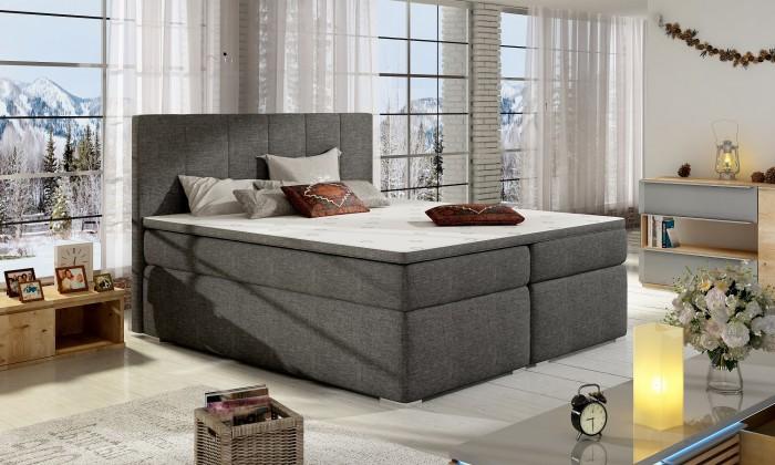Zlevněné postele Postel Boxspring Bolero 180x200, šedá, vč. matrace a úp