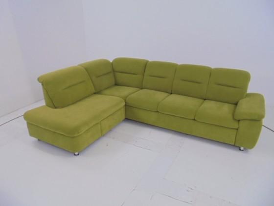 Zlevněné sedací soupravy Rohová sedačka Amora (enoa fashion kiwi) - II. jakost