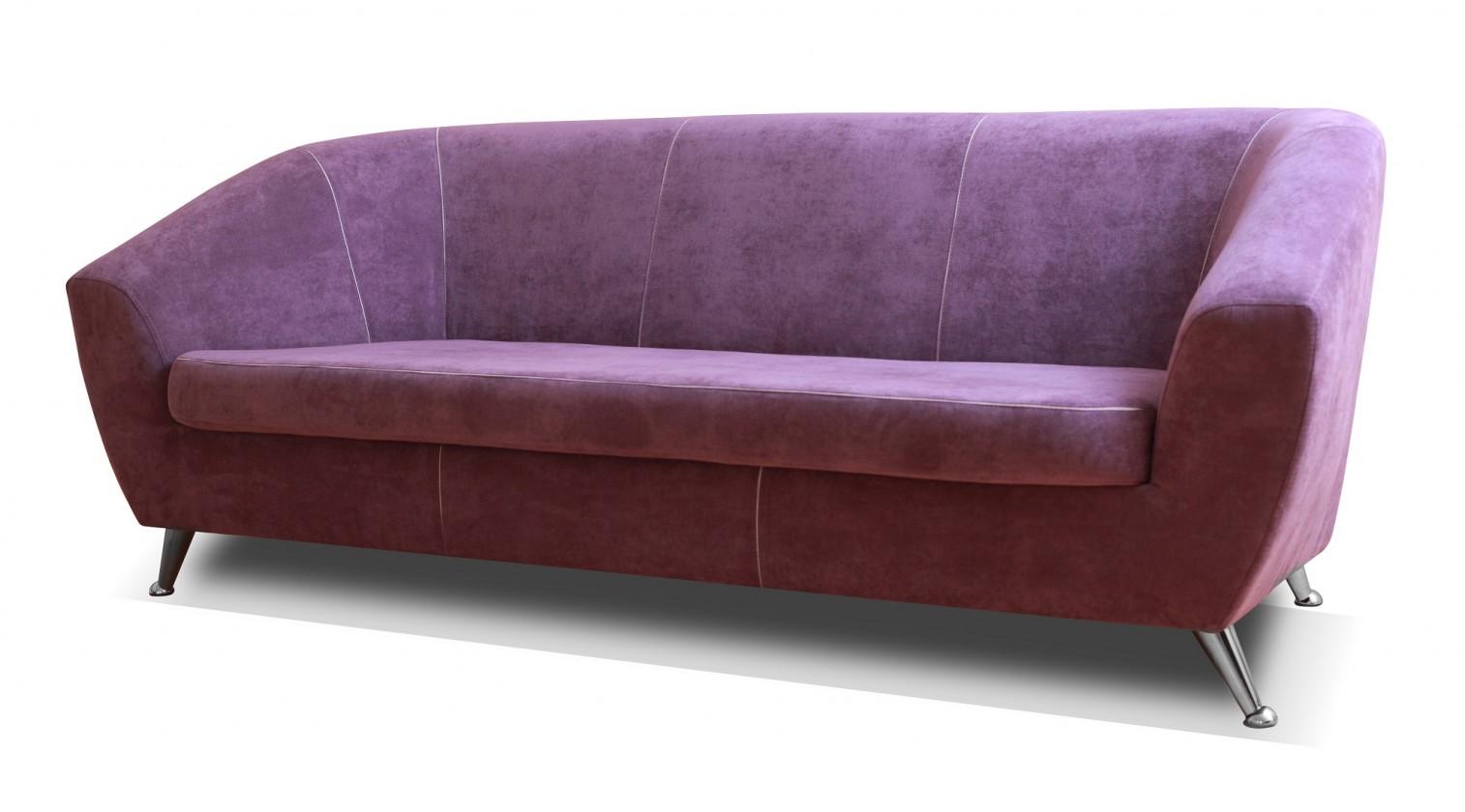 Zlevněné sedací soupravy Trojsedák Lira fialová - II. jakost