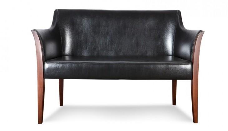 Zlevněné sedačky Bari - 2-sedák (eko kůže, černá, III, nohy - 4A) - II. jakost