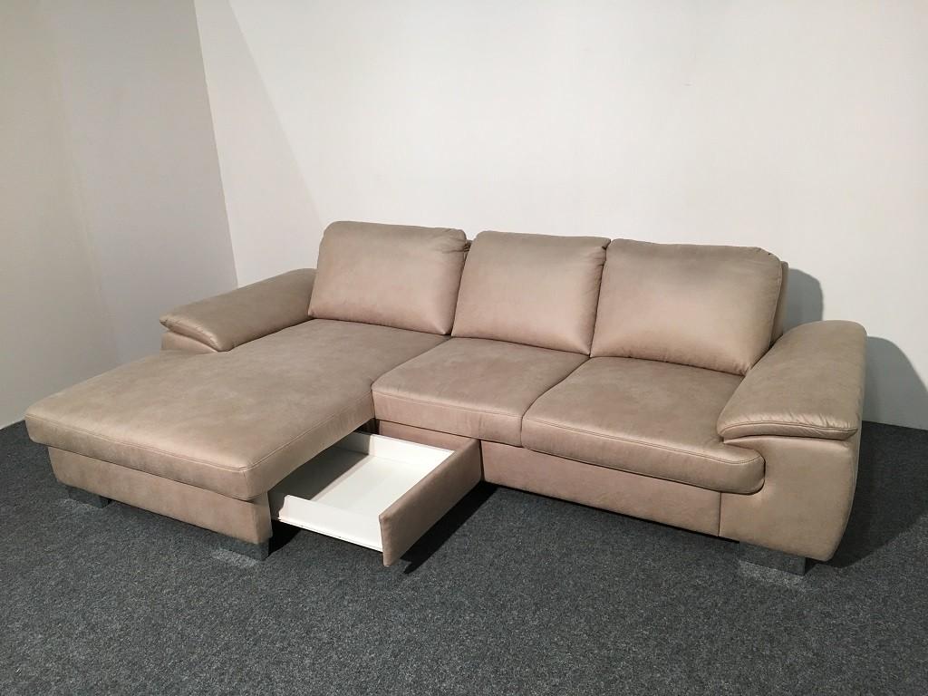 Zlevněné sedačky Rohová sedačka Bermuda (cuero natur) - II. jakost