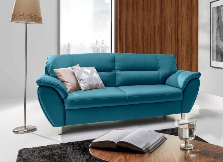 Zlevněné sedačky Trojsedák Amigo (bella 8, modrá) - II. jakost