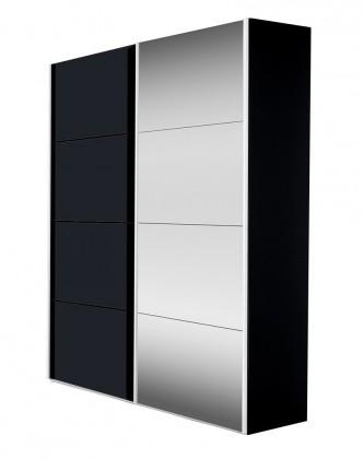 Zlevněné skříně Skříň Flavour (antracit/křišťálové zrcadlo) - II. jakost