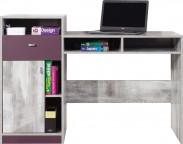 Zoom - Dětský pracovní stůl ZM9 (antic, fialová)