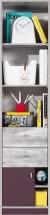 Zoom - Skříň s policemi a zásuvkou ZM6 (antic, fialová)