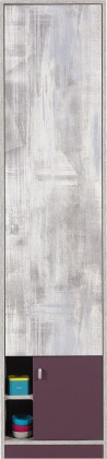 Zoom - Skříň s policemi ZM4 (antic, fialová)