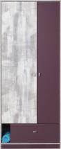 Zoom - Skříň ZM3 (antic, fialová)