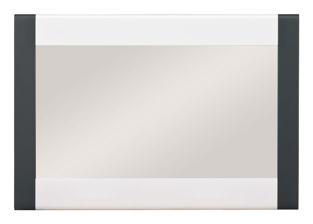 Zrcadlo Anita - NA 10, Zrcadlo (dub sonoma/bílá lesk, grafit)