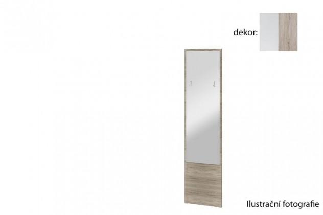 Zrcadlo Arya Typ 09(bílá arctic/dub san remo pískový)