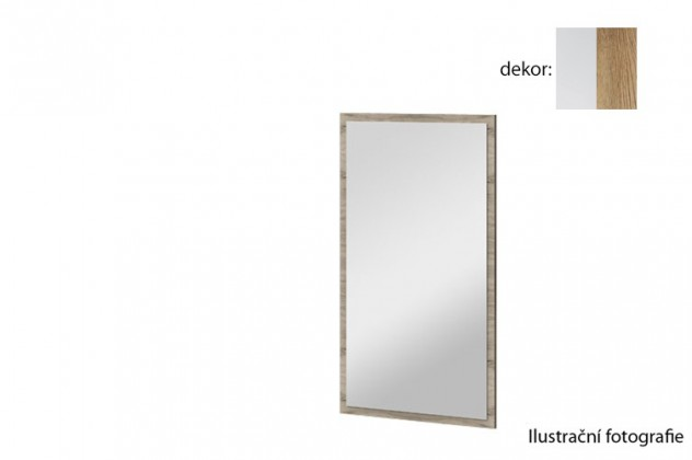 Zrcadlo Arya Typ 10(bílá arctic/dub san remo rustic)