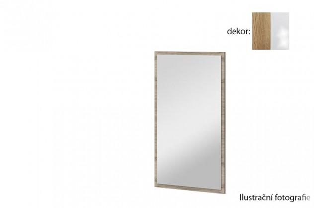 Zrcadlo Arya Typ 10(dub san remo rustic/bílá arctic vysoký lesk)