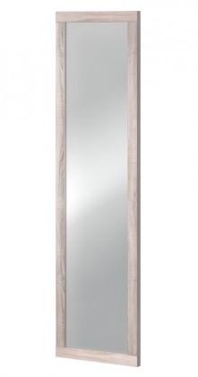 Zrcadlo Clark Typ 15 (dub bardolino/bílá arctic vysoký lesk)
