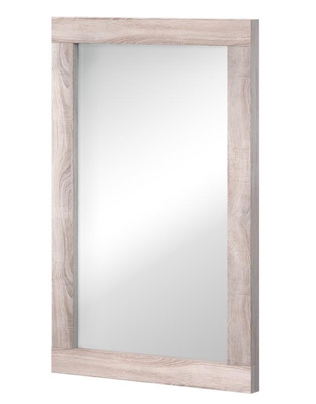 Zrcadlo Clark Typ 16 (dub bardolino/bílá arctic vysoký lesk)