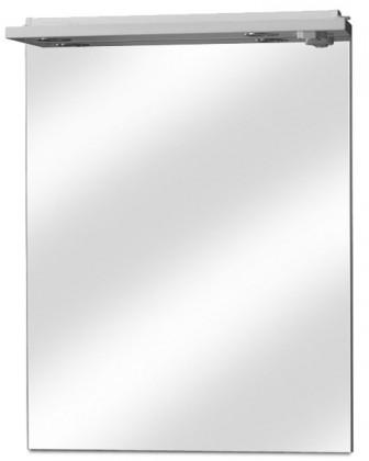 Zrcadlo do koupelny Zrcadlo s halogenovým osvětlením, vypínačem a zásuvkou 70 cm