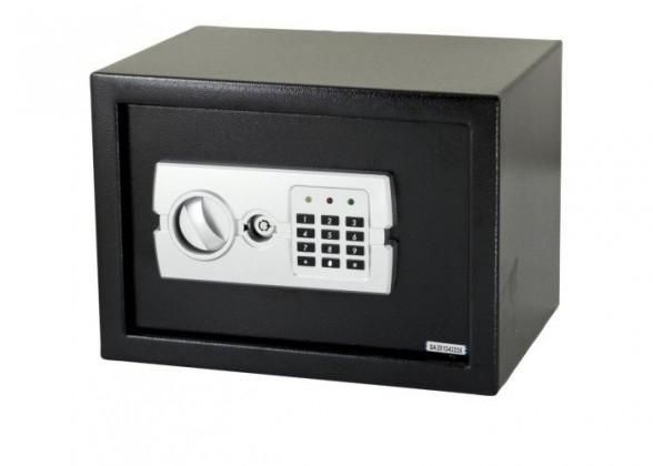 Zvonky, alarmy, trezory ZLEVNĚNO G21 Digitální trezor (GA-25E) POUŽITÉ, NEOPOTŘEBENÉ ZBOŽÍ