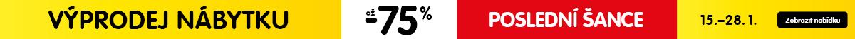 Poslední šance využít výprodej nábytku se slevou až 75 %!