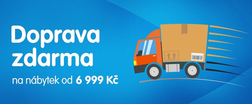 Doprava zdarma na nábytek od 6 999 Kč!