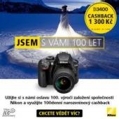 Cashback až 4 600 Kč na zrcadlovky Nikon